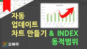 [엑셀 함수강의] INDEX 동적범위로 동적 차트 만들기 (자동 업데이트 차트) | 엑셀 함수강의 1-2